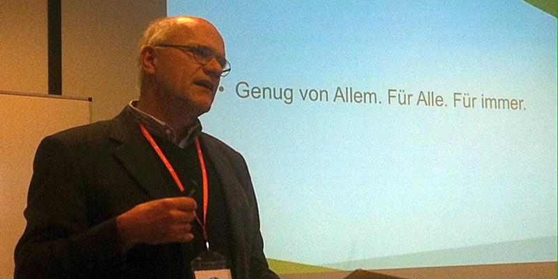 Prof. Alfons Matheis: Genug von Allem, für alle, für immer.