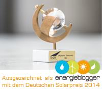 SUSTAINMENT's Blog als Energieblogger mit dem Deutschen Solarpreis 2014 ausgezeichnet