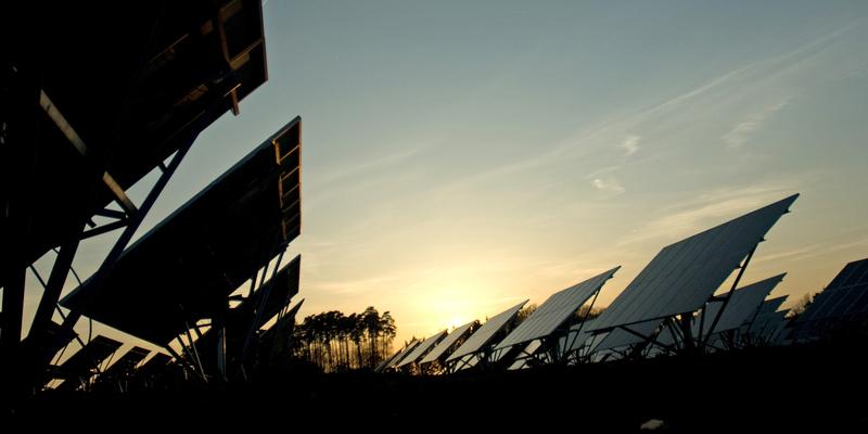 Solarpanels in Solarpark