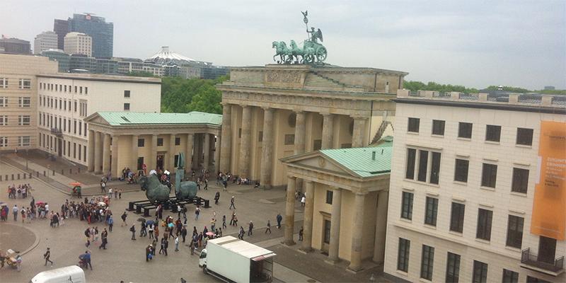 Platz vor dem Brandenburger Tor Berlin