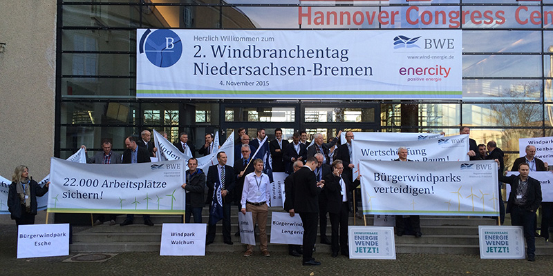 Demonstration für Windparks Hannover 2015