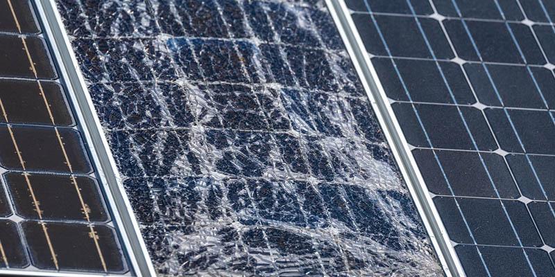 zersplitterte Solarzelle