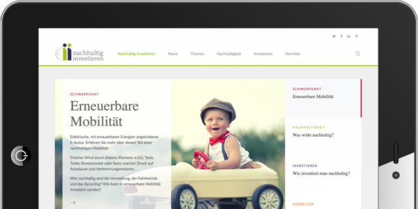 Screenshot Erneuerbare Mobilität